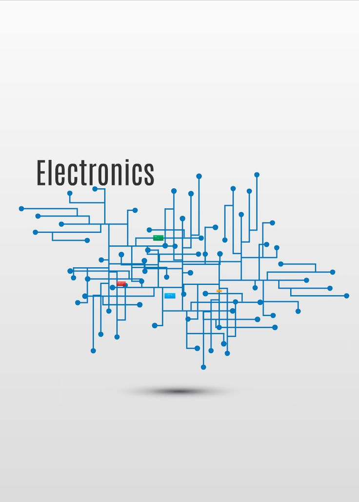 electronics with 3d background