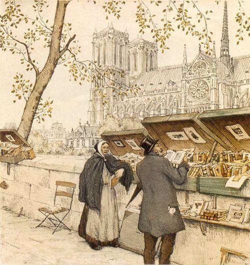 The Old Bibliophile, Paris,  Tavik Frantisek Simon.  Czech (1877-1942)