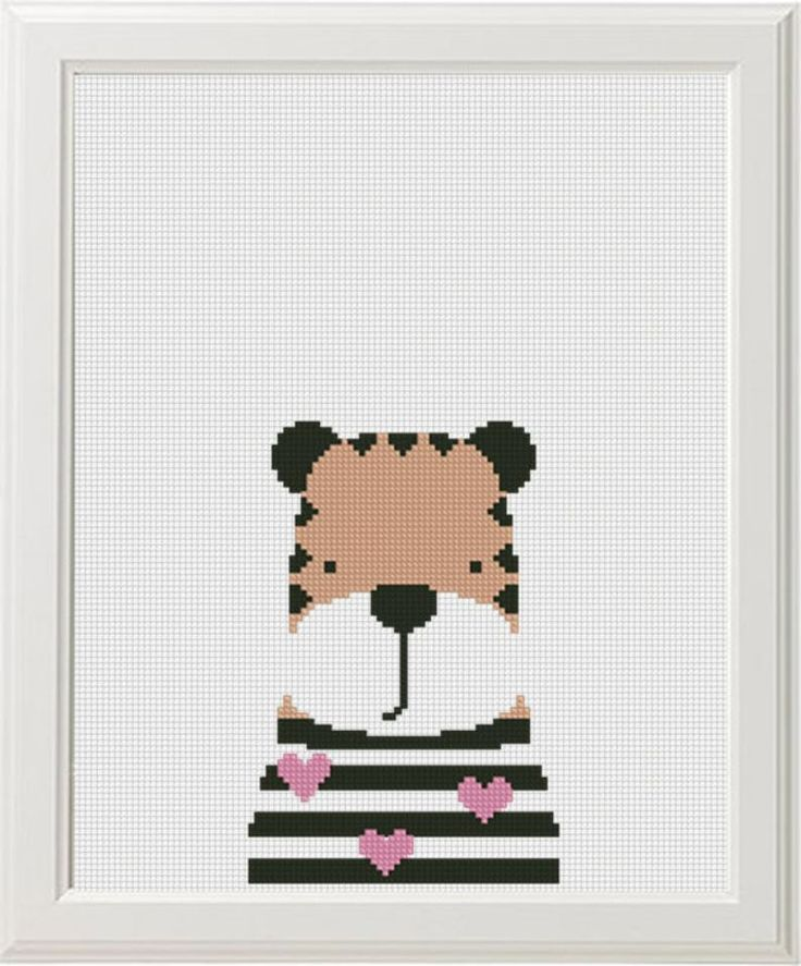 cross stitch pattern animals Baby girl cross stitch Funny fox banny bear tiger easy embroidery pattern cute for beginners kids room decor Cross Stitch Baby, Modern Cross Stitch, Cross Stitch Charts, Funny Embroidery, Embroidery Stitches, Embroidery Patterns, Funny Cross Stitch Patterns, Cross Patterns, Pattern Cute