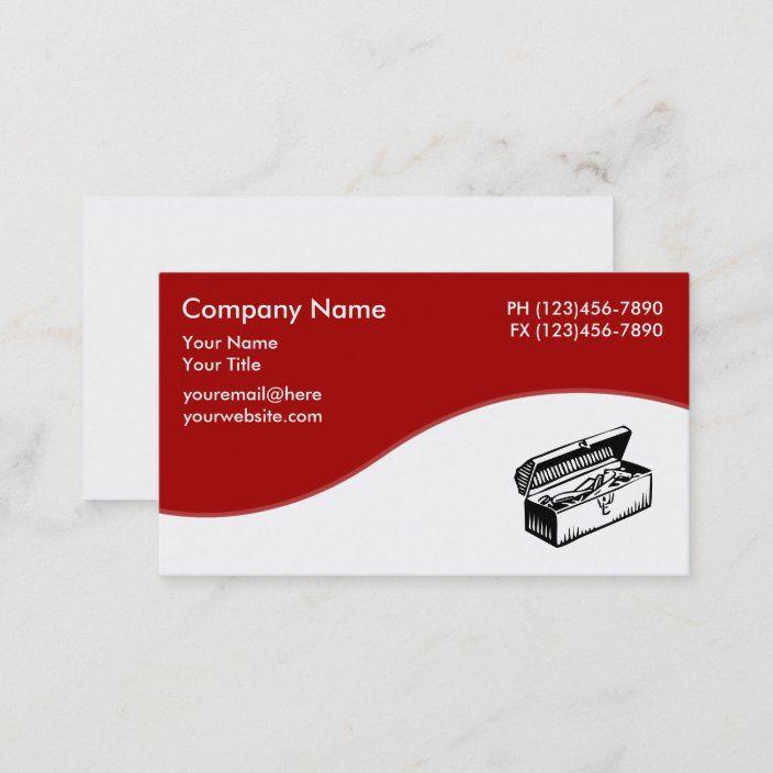 Handyman Toolbox Theme Business Card Zazzle Com In 2021 Handyman Business Handyman Customizable Business Cards