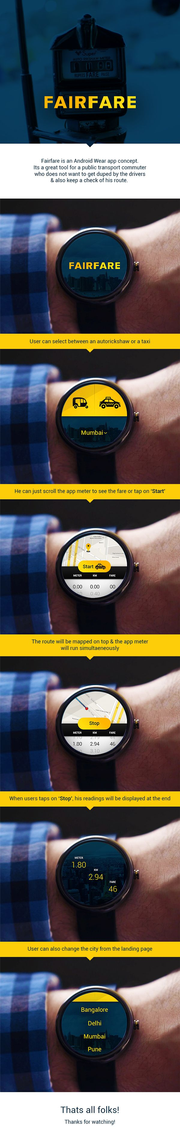 Fairfare Android Wear App on Behance