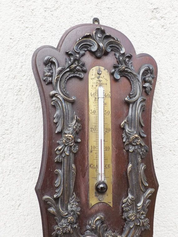 Antique thermometer French Victorian / Art by Daisyrootsfrance