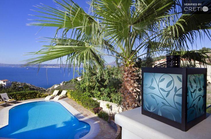 Double decked luxury hillside villa very close to the beach, Plaka | Cretico
