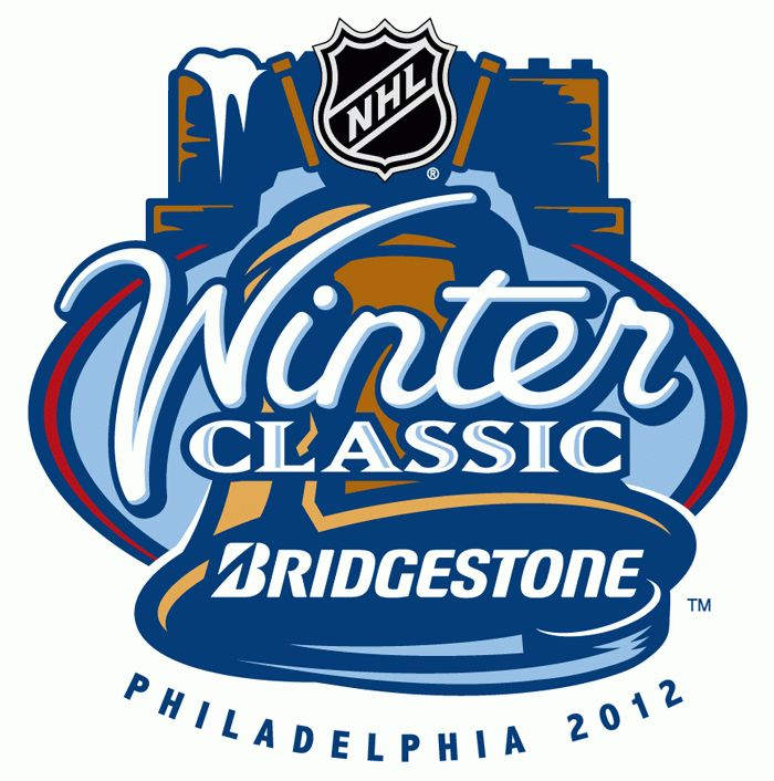 NHL Winter Classic Primary Logo (2012) - 2012 NHL Winter Classic - Philadelphia Flyers host the New York Rangers at the Citizens Bank Park in Philadelphia, Pennsylvania on January 2 2012.