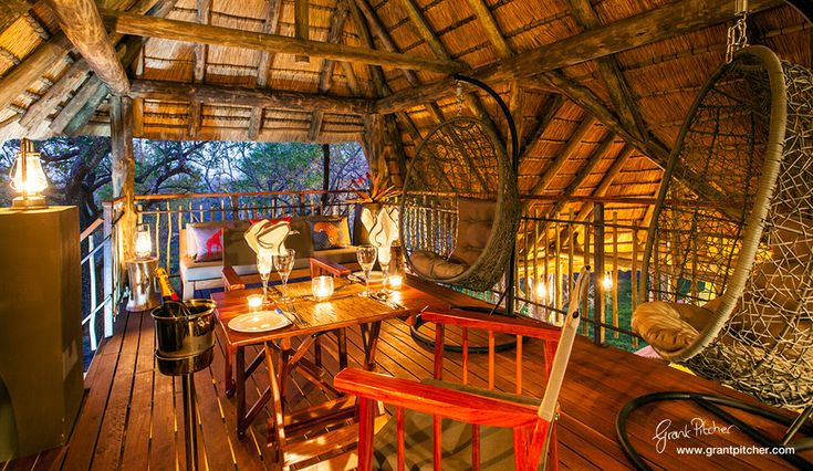 Tambuti Lodge private dining in Pilanesberg Game Reserve. Cant wait to get there!