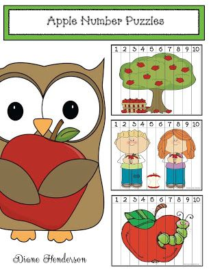 Apple Number Puzzles Fall's my favorite season. Being from Michigan we're big on apples so it's one of our fun-filled themes for September. With that in mind I designed some apple-themed number puzzles. There are 7 puzzles in the packet for numbers 1-10 as well as puzzles that are skip counted by 10s to 100. Choose which ones are right for your kiddos print laminate & trim to use every year as an independent math center. I keep each one in their own ZipLock storage Baggie. Click on the link…