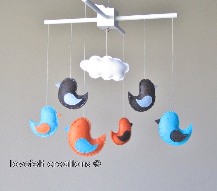105 best images about baby mobile on pinterest for Bird mobiles for nursery
