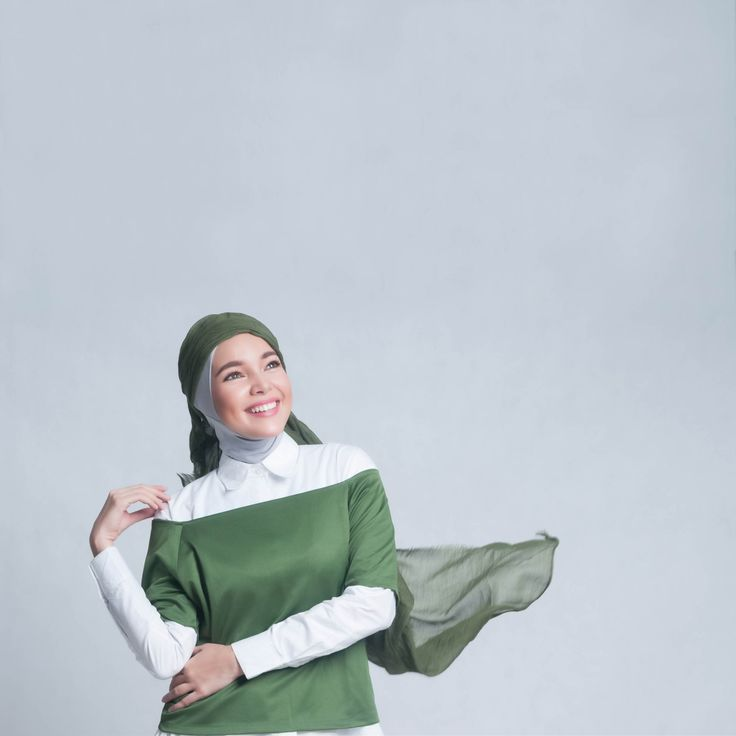 Inas Double Tee Top in Moss Green. Wear by itself, with a shirt, or part of your modesty clothing.