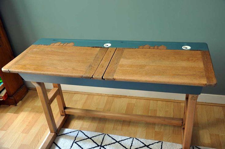17 meilleures id es propos de bureau ecolier sur pinterest bureau ecolier ancien pupitre. Black Bedroom Furniture Sets. Home Design Ideas