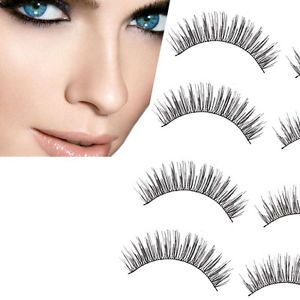 a 5 pares de maquillaje hecho a mano larga gruesa cruz belleza pestanas postizas ojos pestanas venta