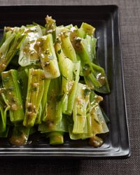 Steamed Leeks with Mustard Shallot Vinaigrette // More French Recipes: http://www.foodandwine.com/slideshows/french #foodandwine