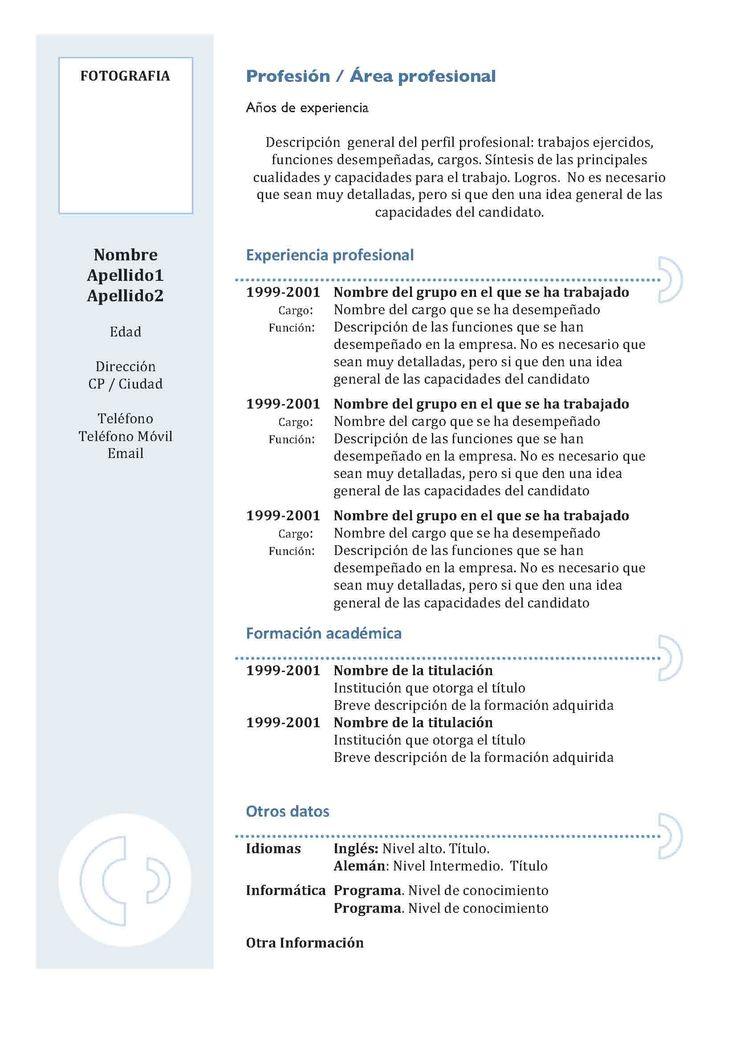 Currículum Vitae Cronológico: Modelo 3