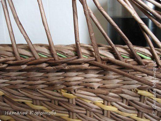 Мастер-класс Поделка изделие Плетение Еще один вариант бортика под крышку Салфетки Трубочки бумажные фото 16 para tapa