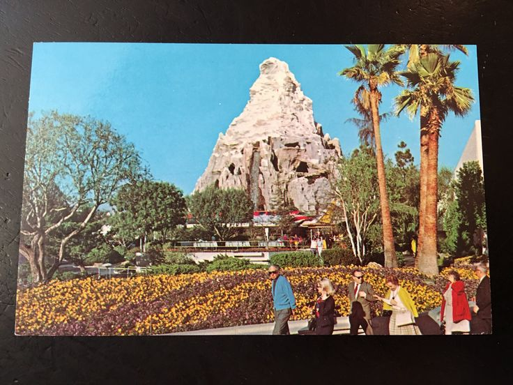 Vintage Disneyland Tomorrowland Postcard - Monorail - Matterhorn by VintageDisneyana on Etsy