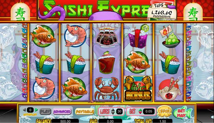 Genießen Sie geschmackhafte orientalische Speisen mit dem #Spielautomat #Sushi Express von #Amaya!