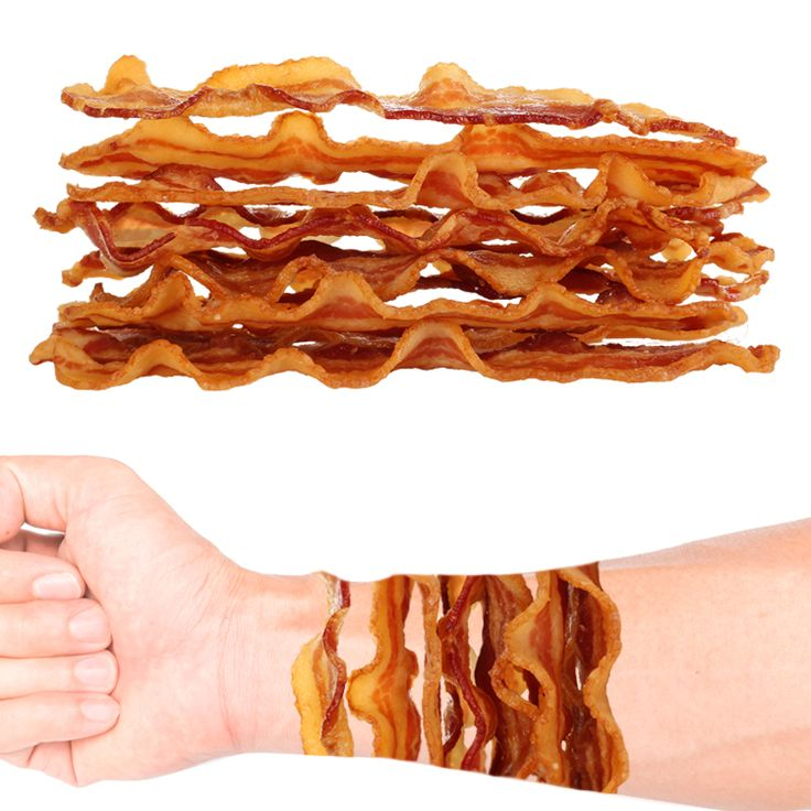 Bacon Stack Temporary Tattoo #1158 (3 pack)