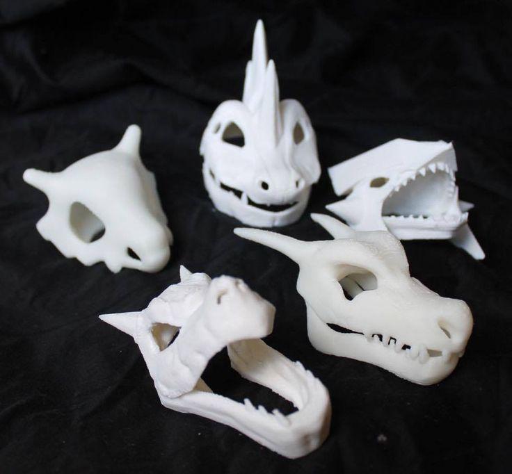 3D Printed Pokemon skulls