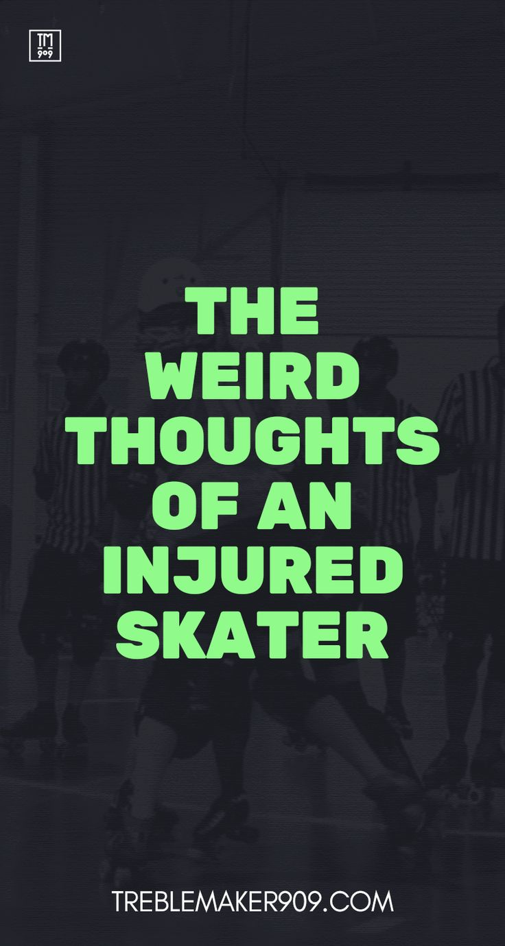 As athletes, we know that injuries are an almost inevitable and are part of sport. A full contact sport without skates has a high chance of injury, put some wheels on your feet and the probability shoots up. But knowing this doesn't necessarily make it any easier when it happens to you! So lets talk about some of the messed up things that go through an injured skater's mind.... #rollerderby #mentaltoughness #injury