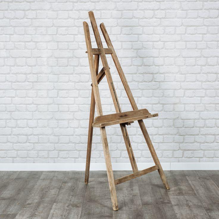 Chevalets en bois. Réglables en hauteur.3 couleurs disponibles : blanc, bois vieilli, bois clair