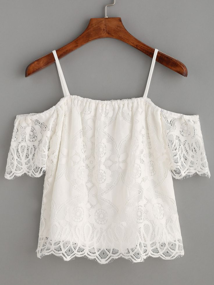 Shop White Cold Shoulder Eyelash Lace Top online. SheIn offers White Cold Shoulder Eyelash Lace Top & more to fit your fashionable needs.