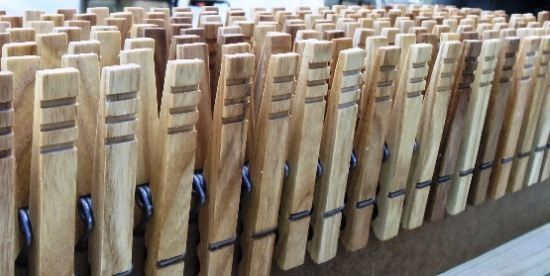 """""""Craftsman Brings Back Classic American Clothespins"""" From MOTHER EARTH NEWS magazine"""