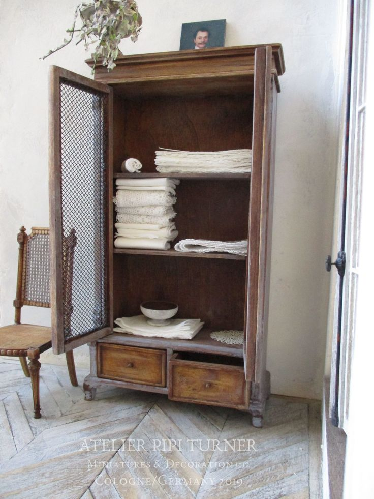 1:12 Dollhouse Miniature Wooden Cupboard Wall Cabinet Bookcase Furniture De HF
