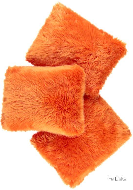 Poduszka dekoracyjna CZUPER pomarańczowy/Faux fur pillow CZUPER orange