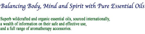 Aromatherapy - healing with pure essential oils.