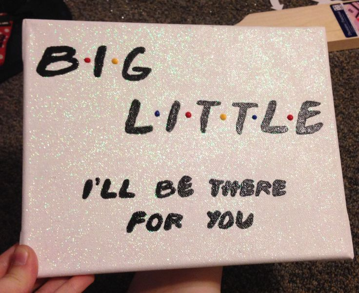 25 best ideas about big little canvas on pinterest big for Sorority crafts for little