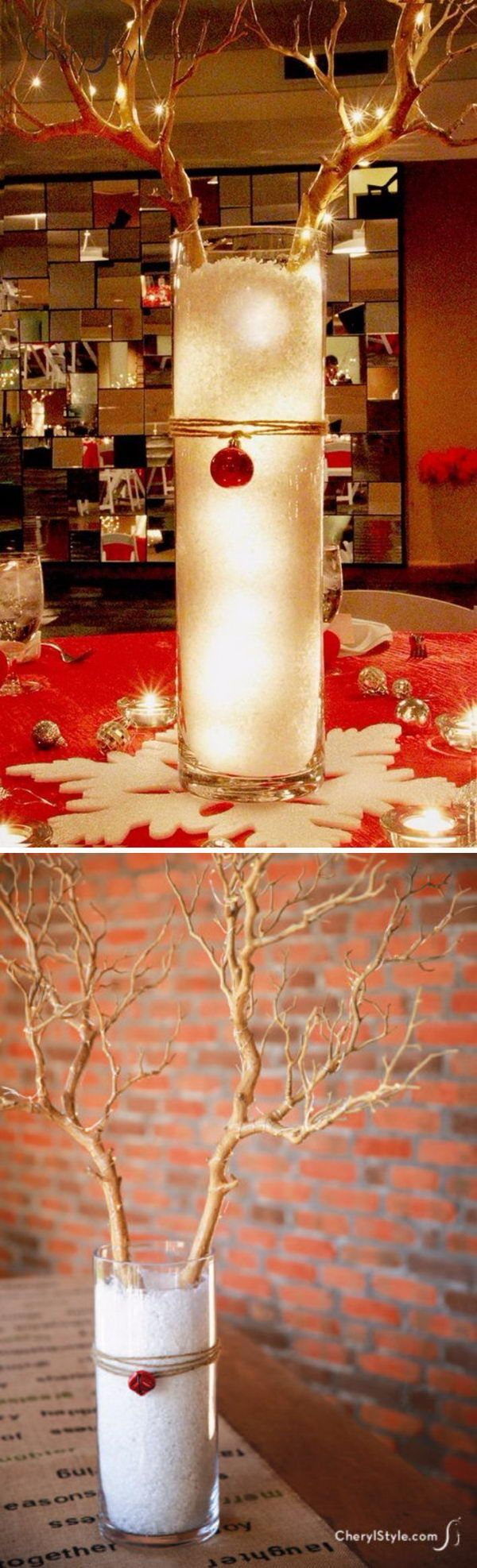 Dollar Tree DIY Christmas Reindeer Centerpiece.