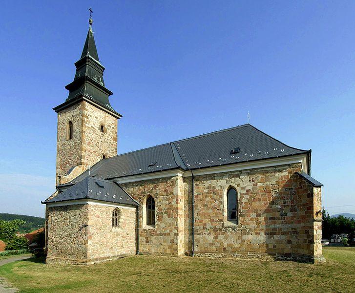 A bogácsi Szent Márton katolikus templom Magyarországon.