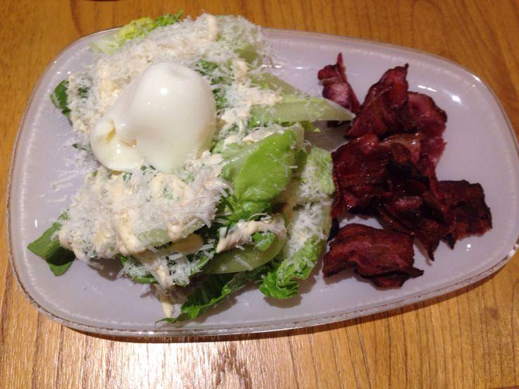 Caesar salad & bacon