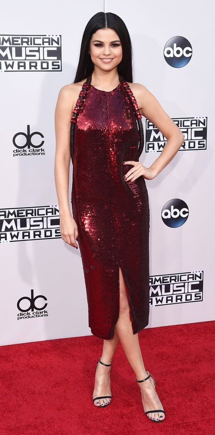 The Most Sizzling Looks at the 2015 American Music Awards - Selena Gomez - from InStyle.com