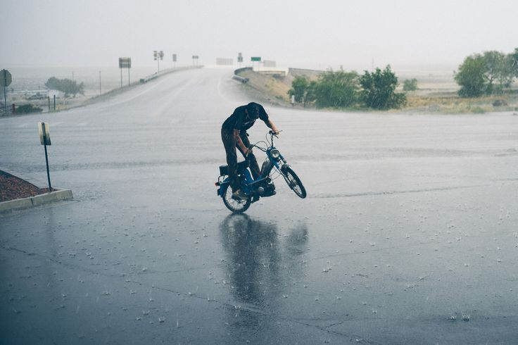 The summer storm season can't take away all the fun. The pit bike saw more action than anything else.