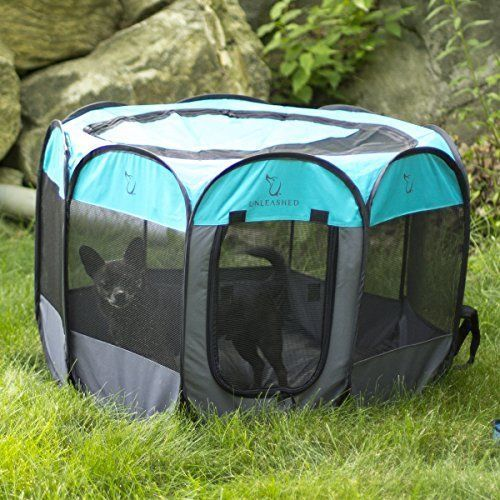 Travel Dog Pet Cat Portable Playpen Carrying Case Comfort Outdoor Indoor Camping #Unleashed
