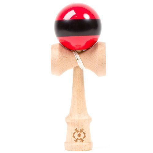 Kendama USA Tribute Kendama - Red W. Black Stripe by Kendama USA. $42.14. Red W. Black Stripe. 2.75 x 2.5 x 7.25. The Tribute represents a premium quality Kendama, pairing an unmatched combination of unique design with superior materials. Unlike older traditional style Kendama handles, the contemporary style of the Tribute does not separate during play, and simplifies the re-stringing process. The Tribute can be re-strung between right and left handed play simply and eas...