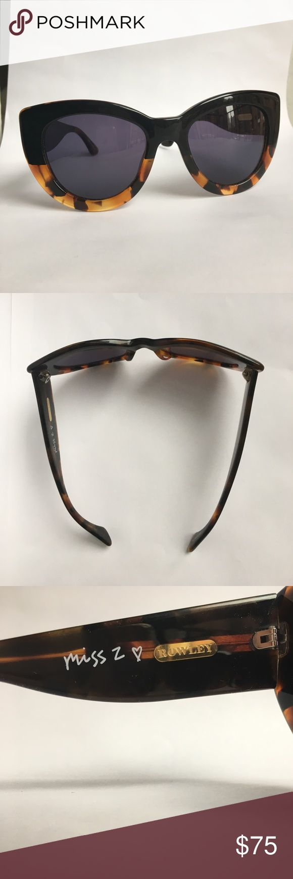 Cynthia Rowley Miss Z black/tortoise sunglasses Originally $100. Cat-eye acetate sunnies. Designed by Zosia Mamet for Cynthia Rowley. Black/tortoise color. Cynthia Rowley Accessories Sunglasses