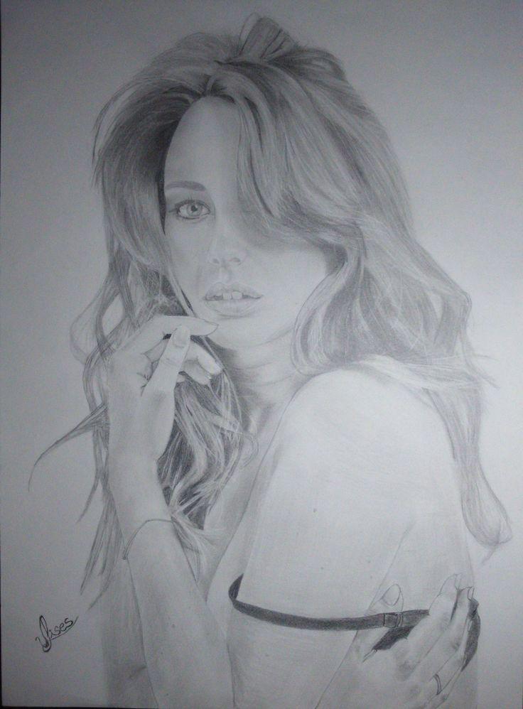 dibujo a lapiz Blanca Suarez
