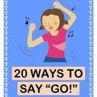 "20 WAYS TO SAY ""GO!"" - ACTIVE WORD WORK GAME!  Start your day with 20 SIGHT WORDS, and learn lots of fun alternatives to the word ""GO!""  Build Vocabulary and do Word Work with a GROUP GAME and a funny SONG!  20 SIGHT WORD CARDS are included.  After all, ""I don't want to just GO to school!  I want to have some FUN!""  Don't miss this-- it's my favorite way to start the day!  (11 pages)  Joyful Noises Express TpT!  $"