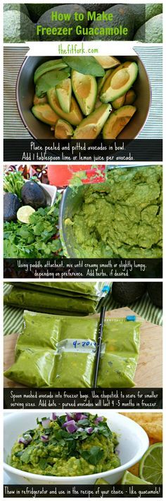 How to freeze guacamole (or smashed avocado) -- yes, it works, it's easy, and economical! Stockpile avocados on sale and fill up your freezer with the tips in this simple recipe ready photo tutorial. Viva la Guacamole! | thefitfork.com