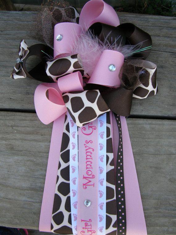 giraffe baby shower mumgirl baby showergiraffe corsage by bonbow, $19.99