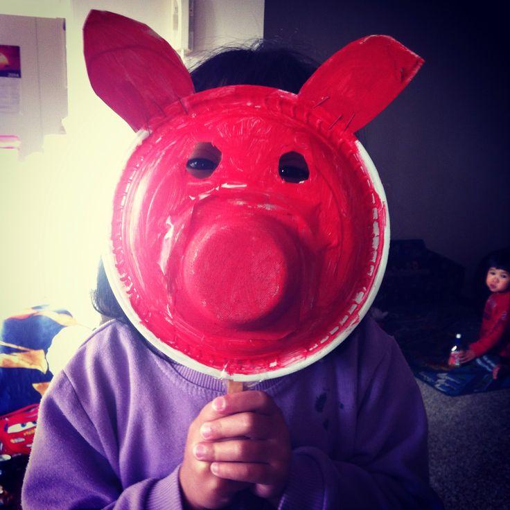 DIY homework for kindy animal mask