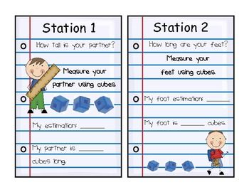 Here's a series of station activities for measuring in non-standard units.