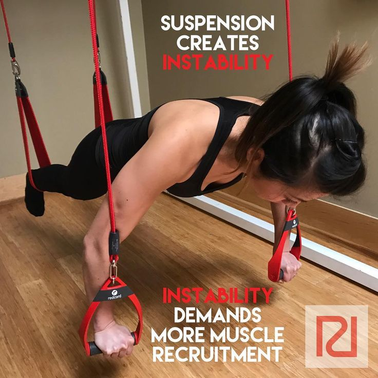 Redcord is a fully adjustable suspension system which creates instability while you train. This instability demands and forces more muscle recruitment during training. Training levels can be adjusted and individualized to each person with Redcord. #readyroomhealth #redcord #neurac