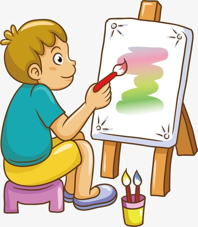 Painting Painting Sketch Cartoon Children Play Child Boy Children Childhood Cartoon Vector Children Vector Playing Vector Illust Cartoon Illustration Character
