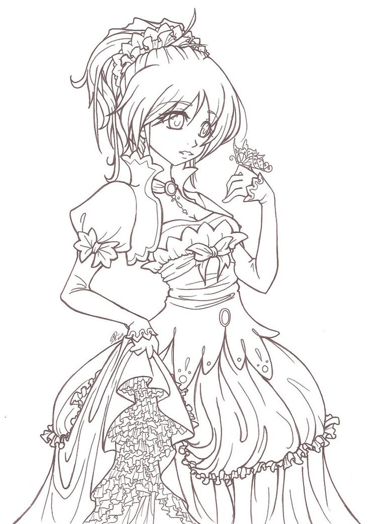 my fare flower by angelnablackrobe on deviantart anime coloring page - Coloring Pages Anime Princesses