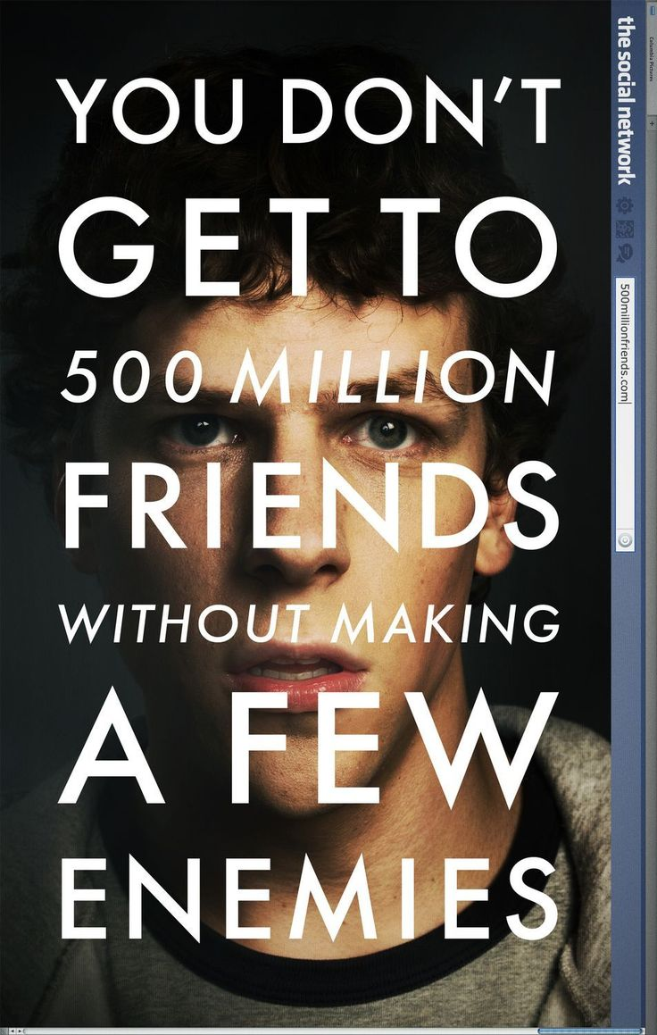 2010 The Social Network - I liked this one for the historical value. It changed the way that we interact in our world. Like now on Pinterest. :)