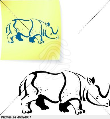 rinoceronte dibujo - Buscar con Google