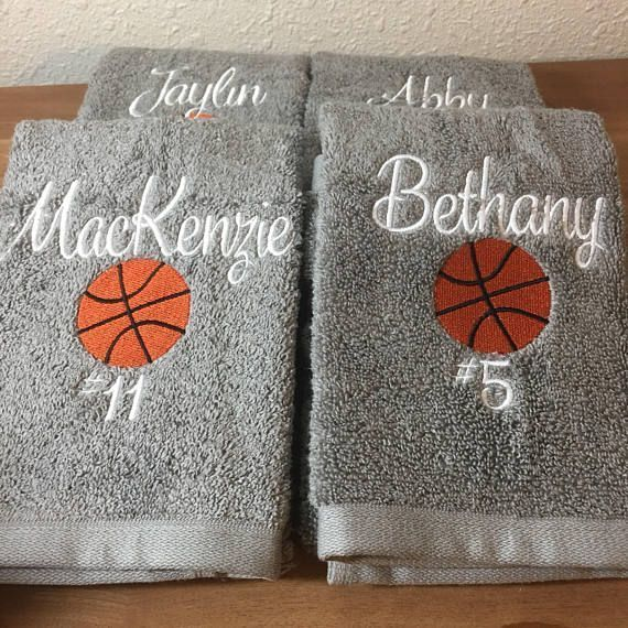 These are high quality hand towels- larger sized for wiping sweat! 16x26 100% Cotton I can do volleyball, basketball, soccer, tennis, badminton, lacrosse - just about anything! You have a group, I will design your towels! Please leave all info in name to seller box- or send me a #basketballlife