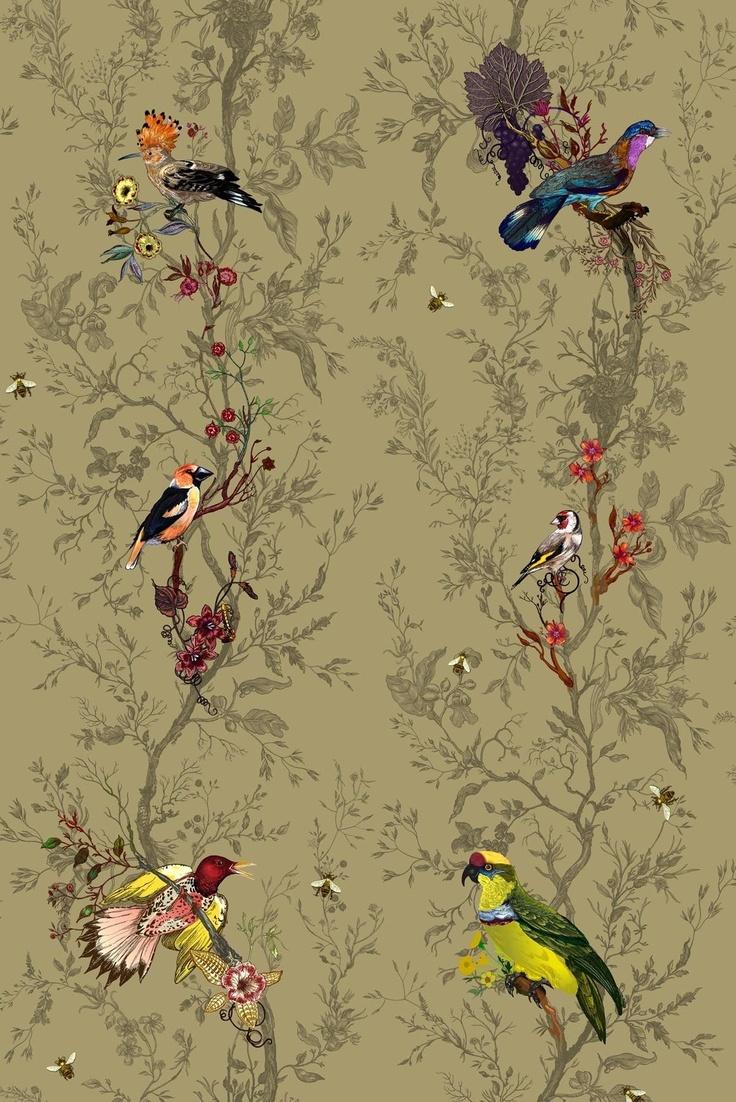 Birds n Bees fabric* Timorous Beasties